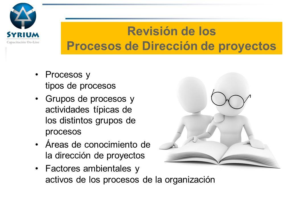 Revisión de los Procesos de Dirección de proyectos