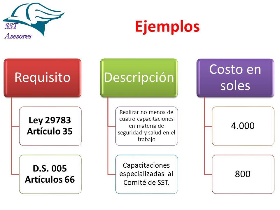 Capacitaciones especializadas al Comité de SST.