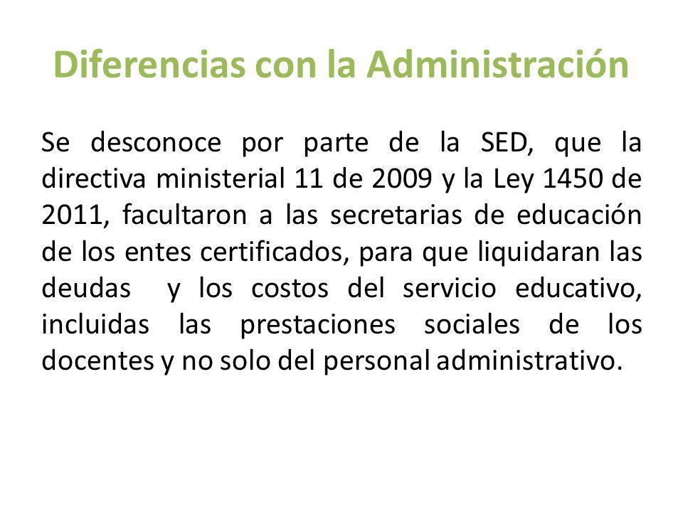 Diferencias con la Administración
