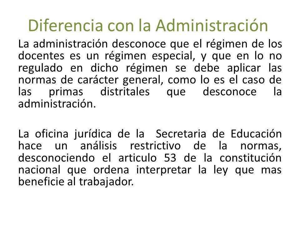 Diferencia con la Administración