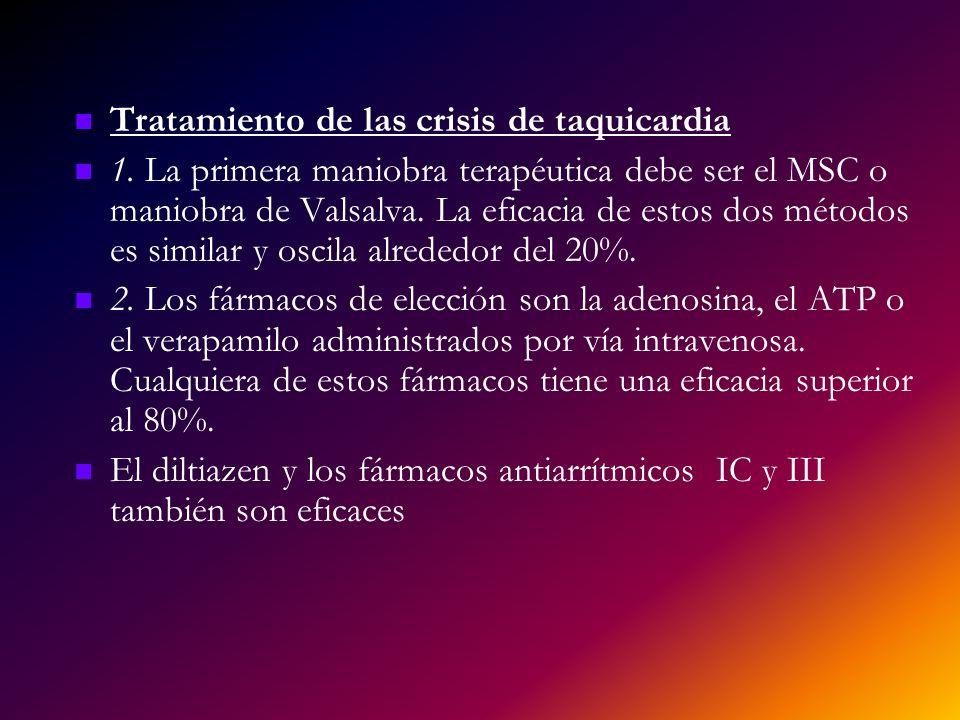 Tratamiento de las crisis de taquicardia