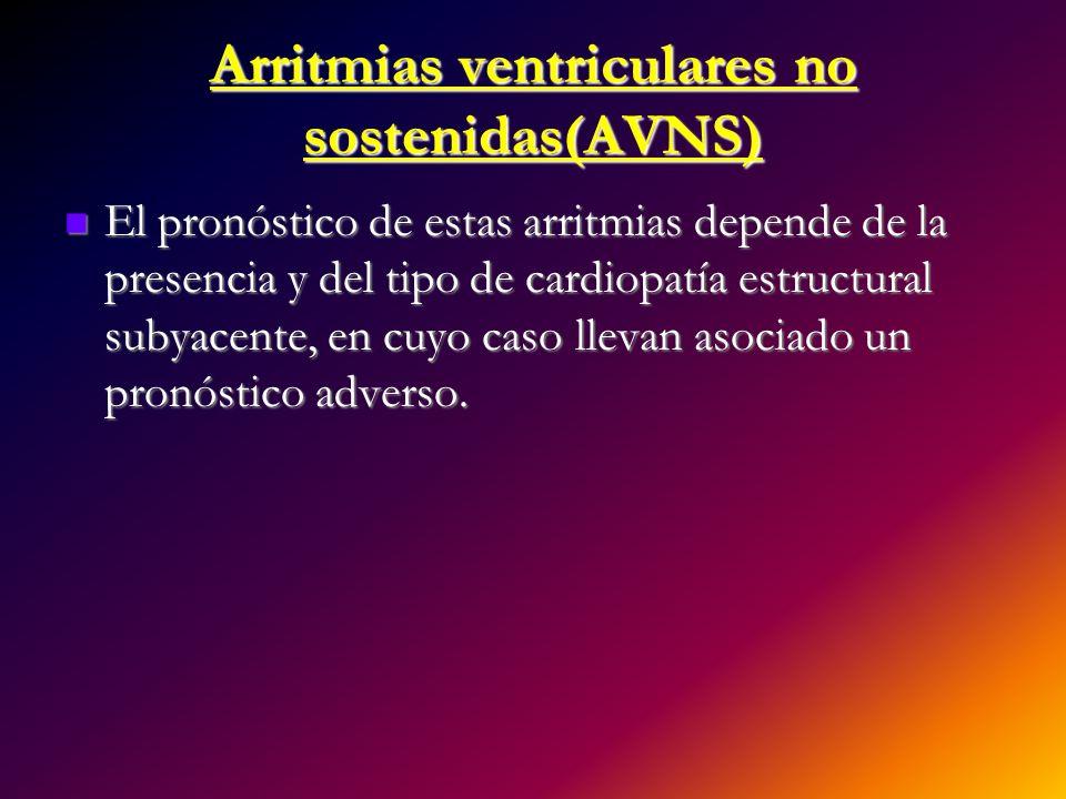 Arritmias ventriculares no sostenidas(AVNS)