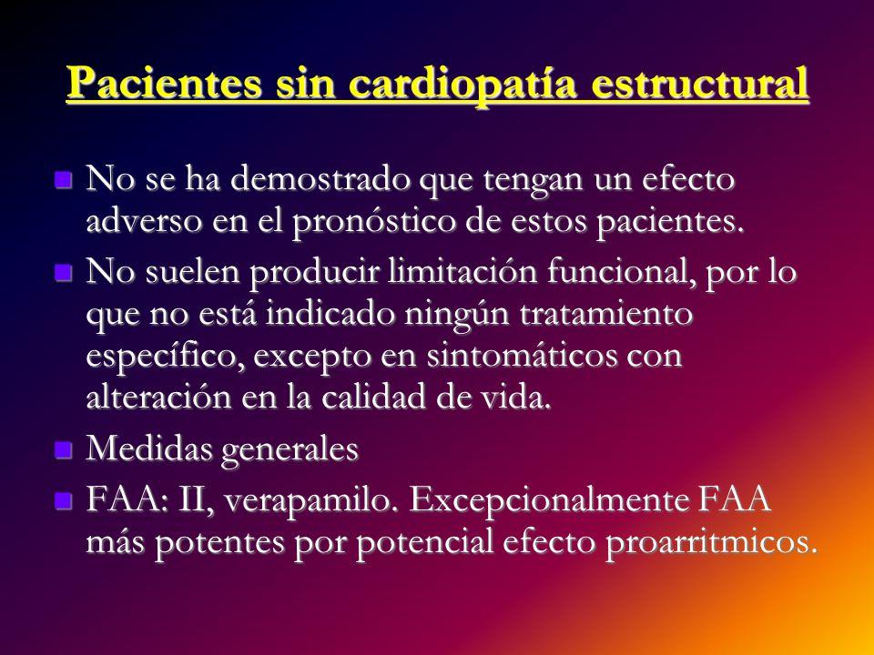 Pacientes sin cardiopatía estructural