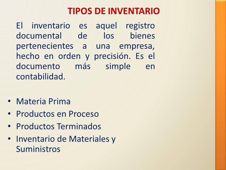 TIPOS DE INVENTARIO
