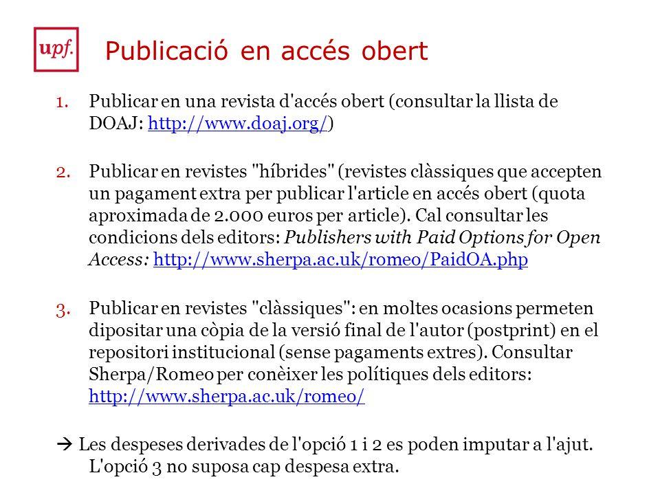 Publicació en accés obert