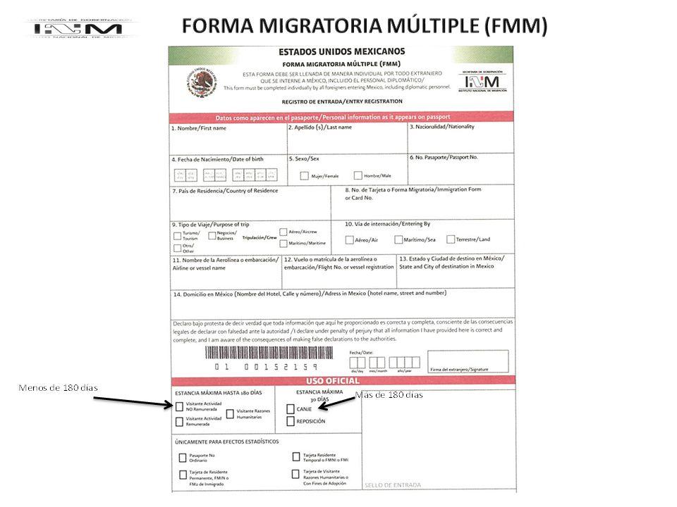 FORMA MIGRATORIA MÚLTIPLE (FMM)
