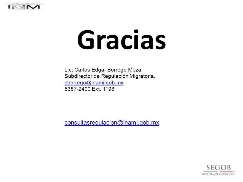 Gracias consultasregulacion@inami.gob.mx