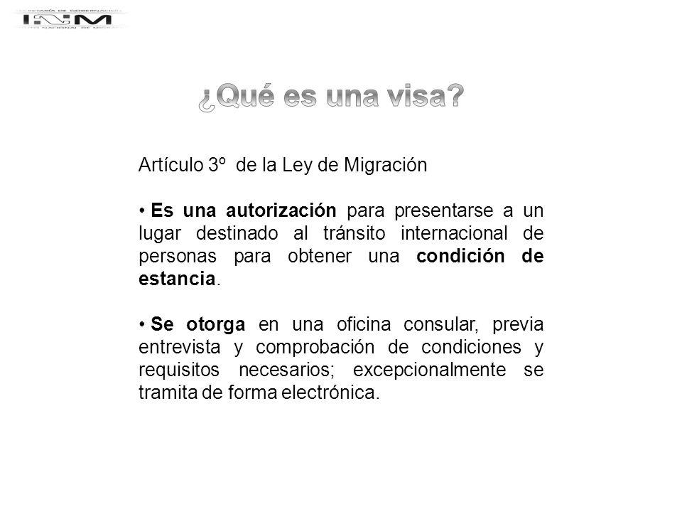 ¿Qué es una visa Artículo 3º de la Ley de Migración