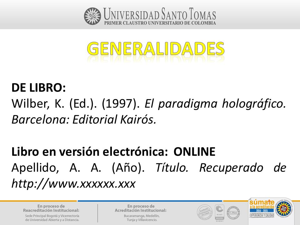 GENERALIDADES DE LIBRO: