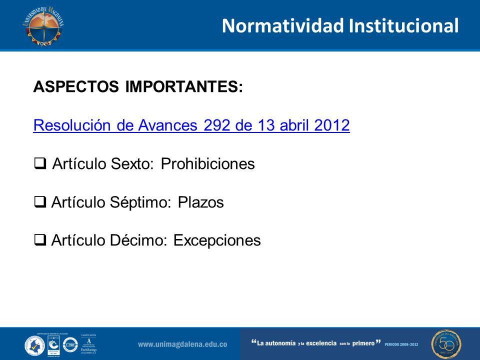 Normatividad Institucional