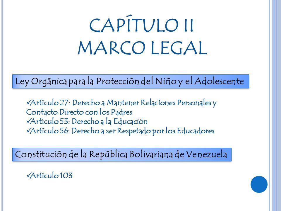 CAPÍTULO II MARCO LEGAL