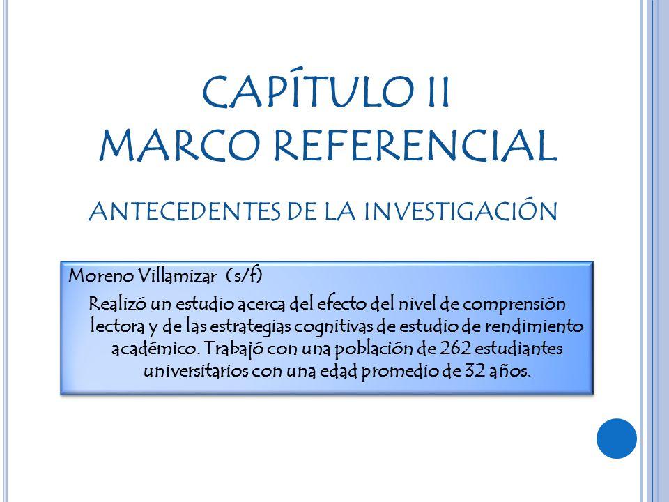 CAPÍTULO II MARCO REFERENCIAL