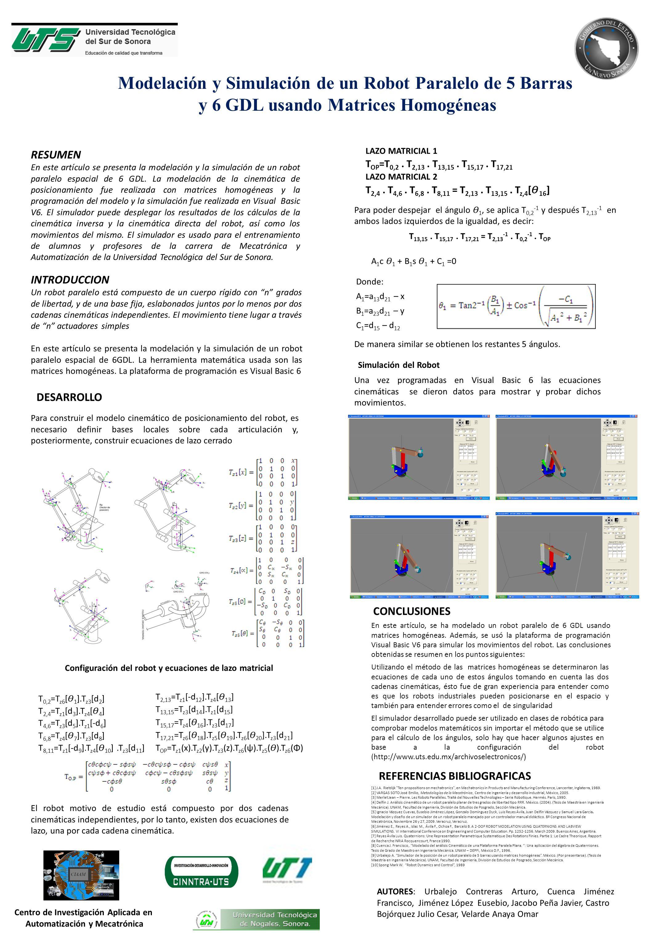 Modelación y Simulación de un Robot Paralelo de 5 Barras