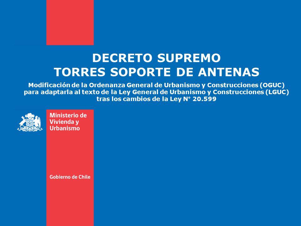 DECRETO SUPREMO TORRES SOPORTE DE ANTENAS