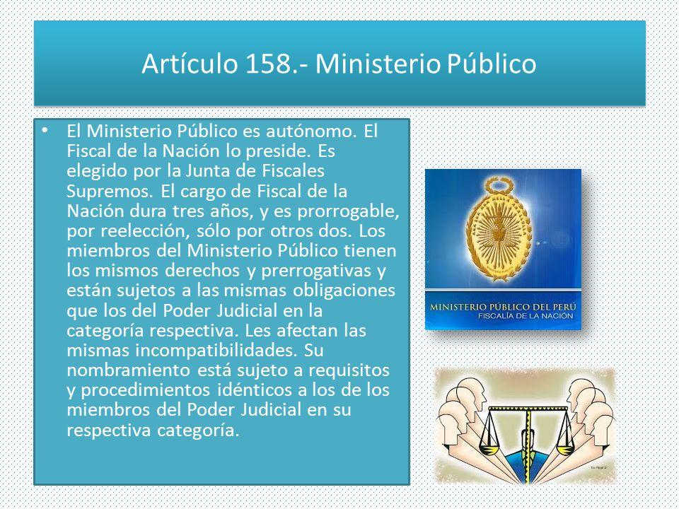 Artículo 158.- Ministerio Público