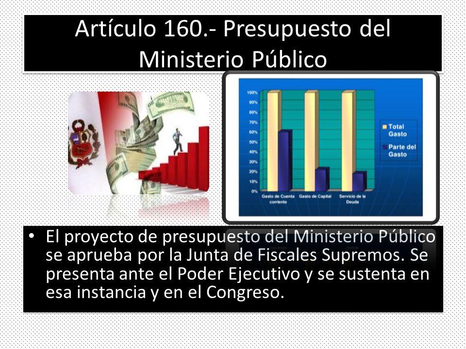 Artículo 160.- Presupuesto del Ministerio Público