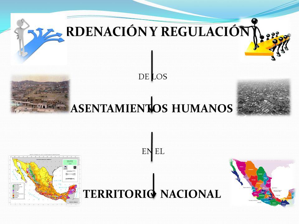 ORDENACIÓN Y REGULACIÓN ASENTAMIENTOS HUMANOS
