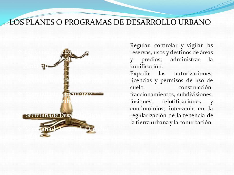LOS PLANES O PROGRAMAS DE DESARROLLO URBANO