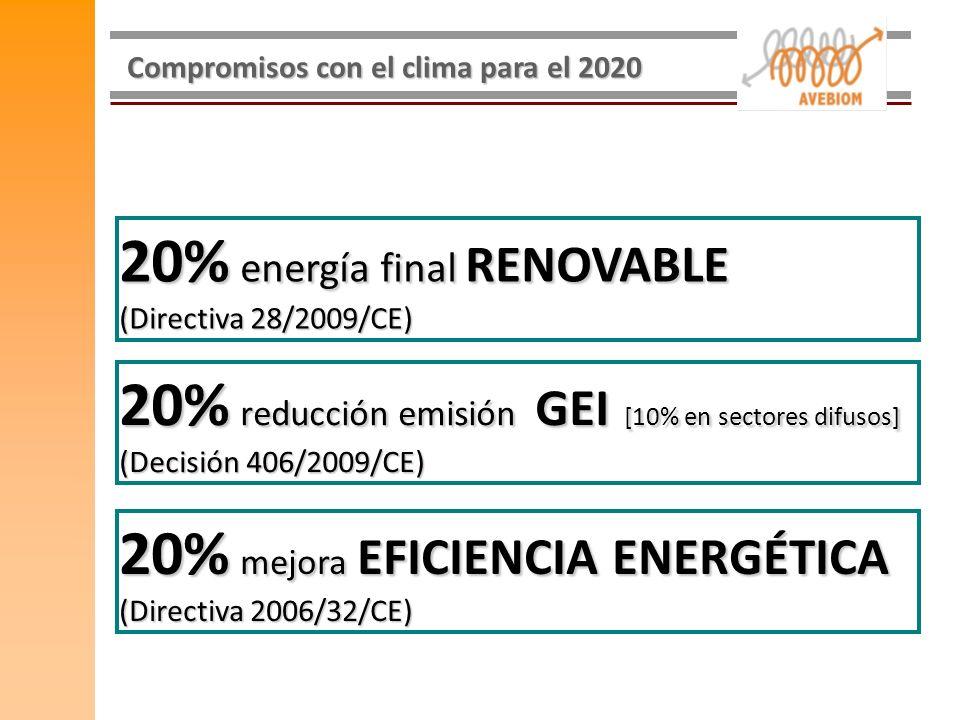 20% energía final RENOVABLE