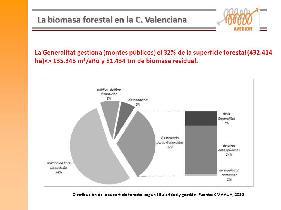 La biomasa forestal en la C. Valenciana
