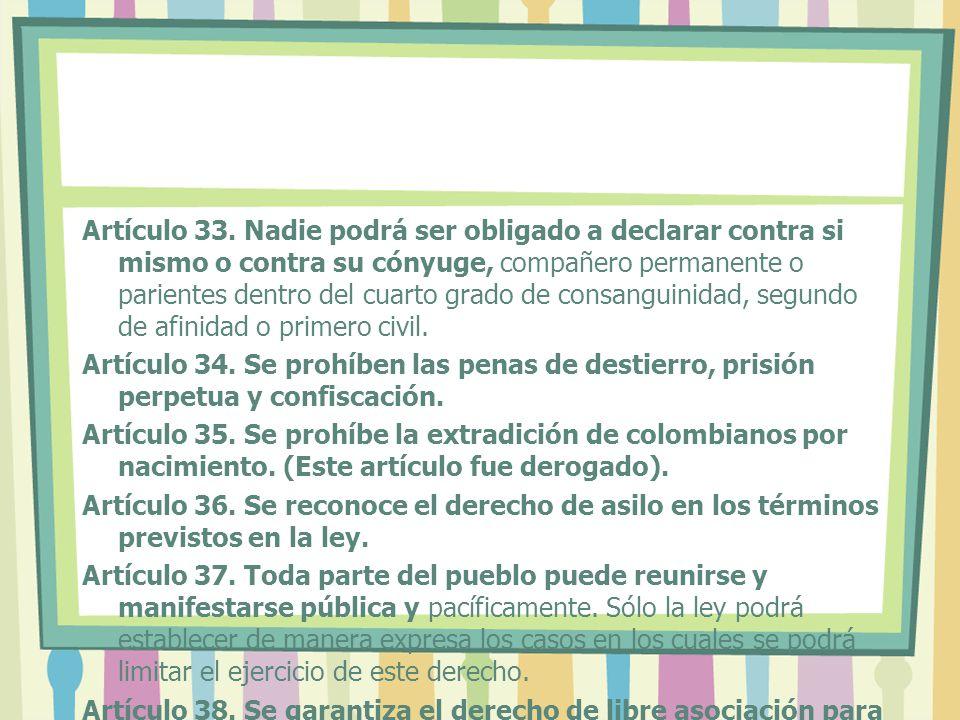 Artículo 33.