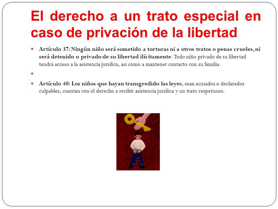 El derecho a un trato especial en caso de privación de la libertad