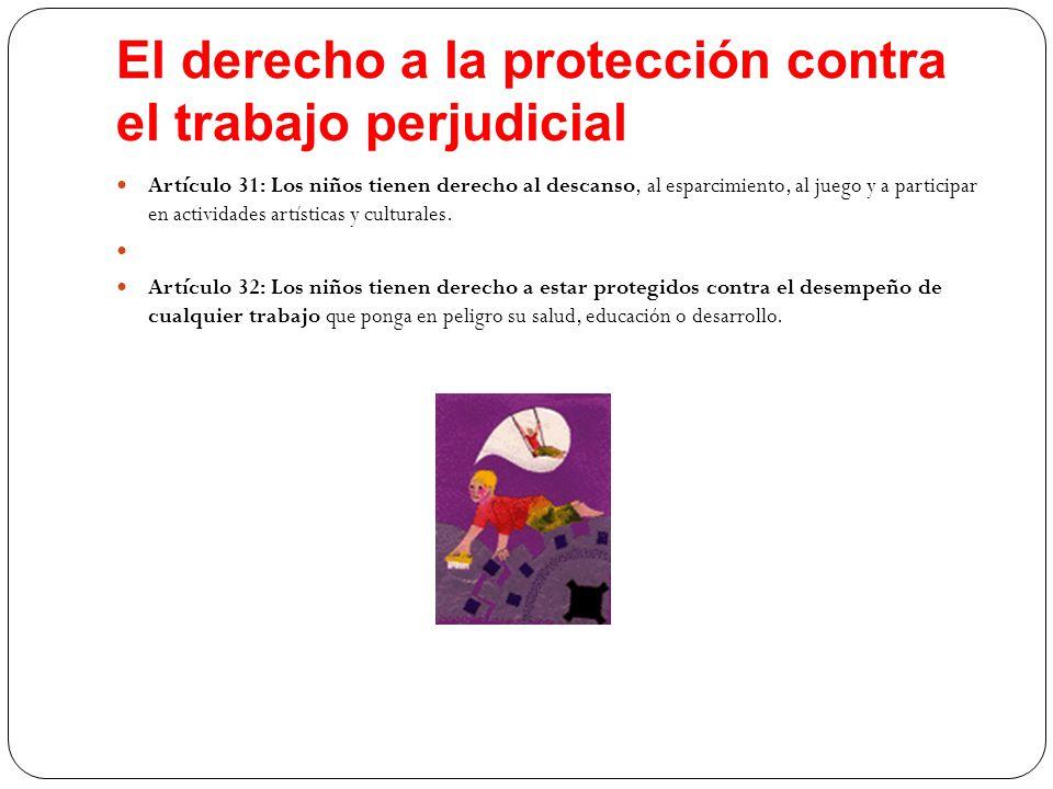 El derecho a la protección contra el trabajo perjudicial