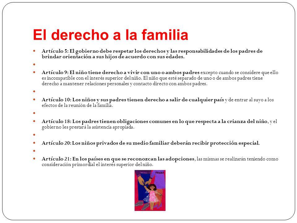 El derecho a la familia