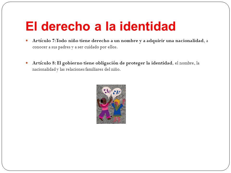 El derecho a la identidad