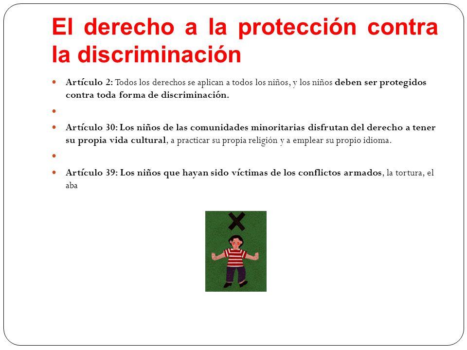 El derecho a la protección contra la discriminación