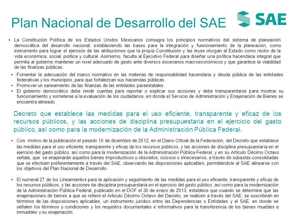 Plan Nacional de Desarrollo del SAE