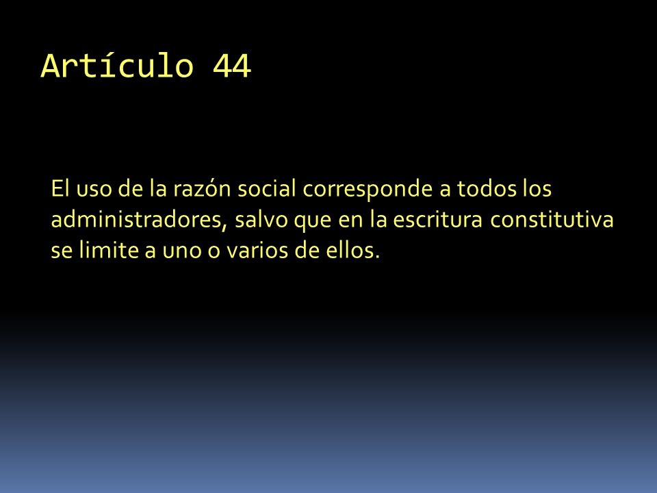 Artículo 44