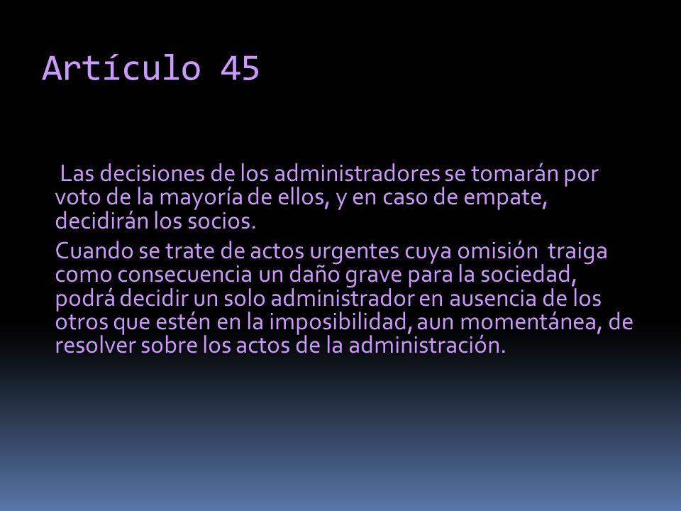 Artículo 45