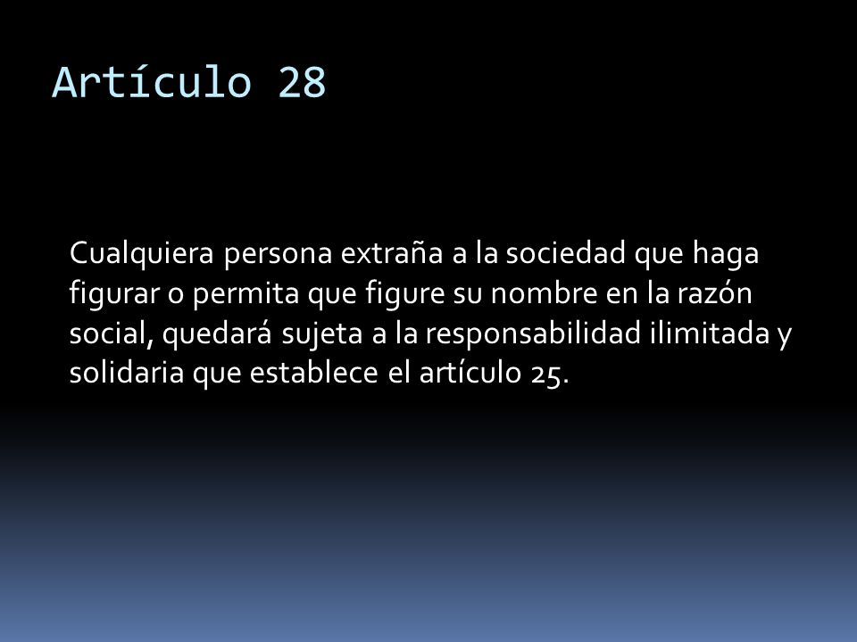 Artículo 28