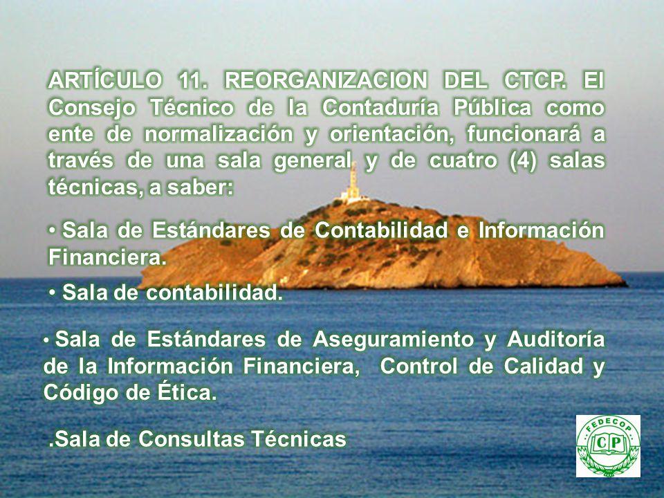 Sala de Estándares de Contabilidad e Información Financiera.