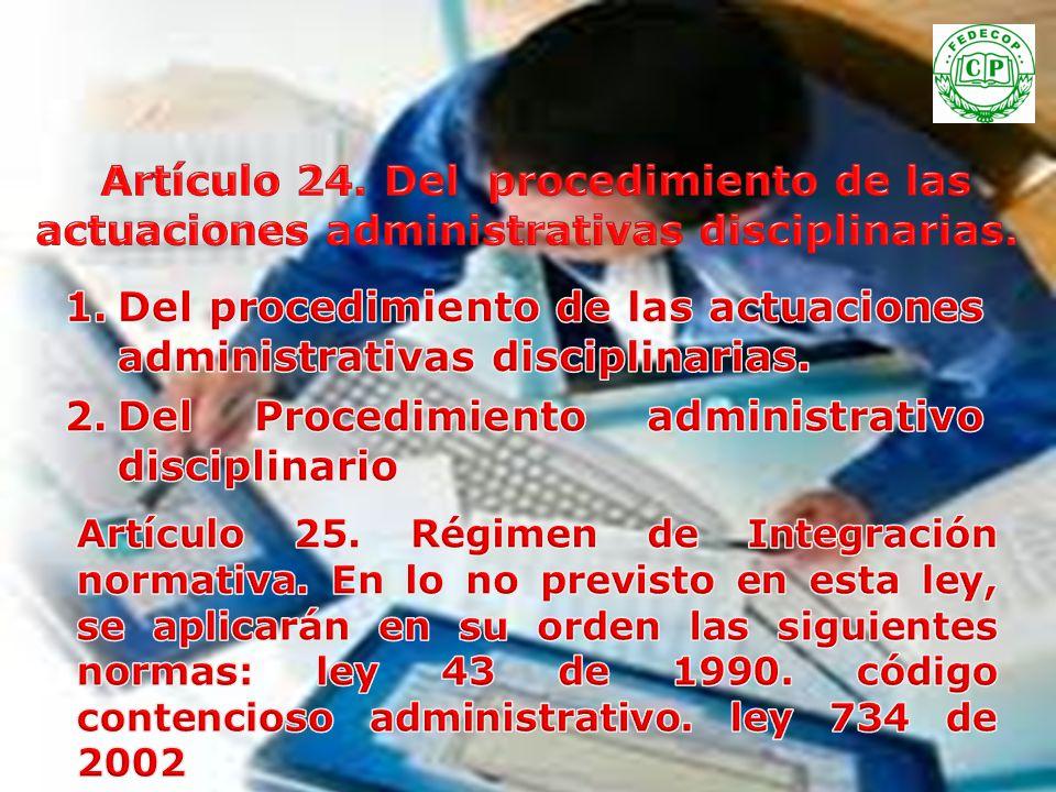Artículo 24. Del procedimiento de las