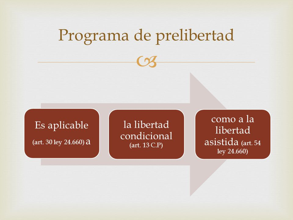 Programa de prelibertad
