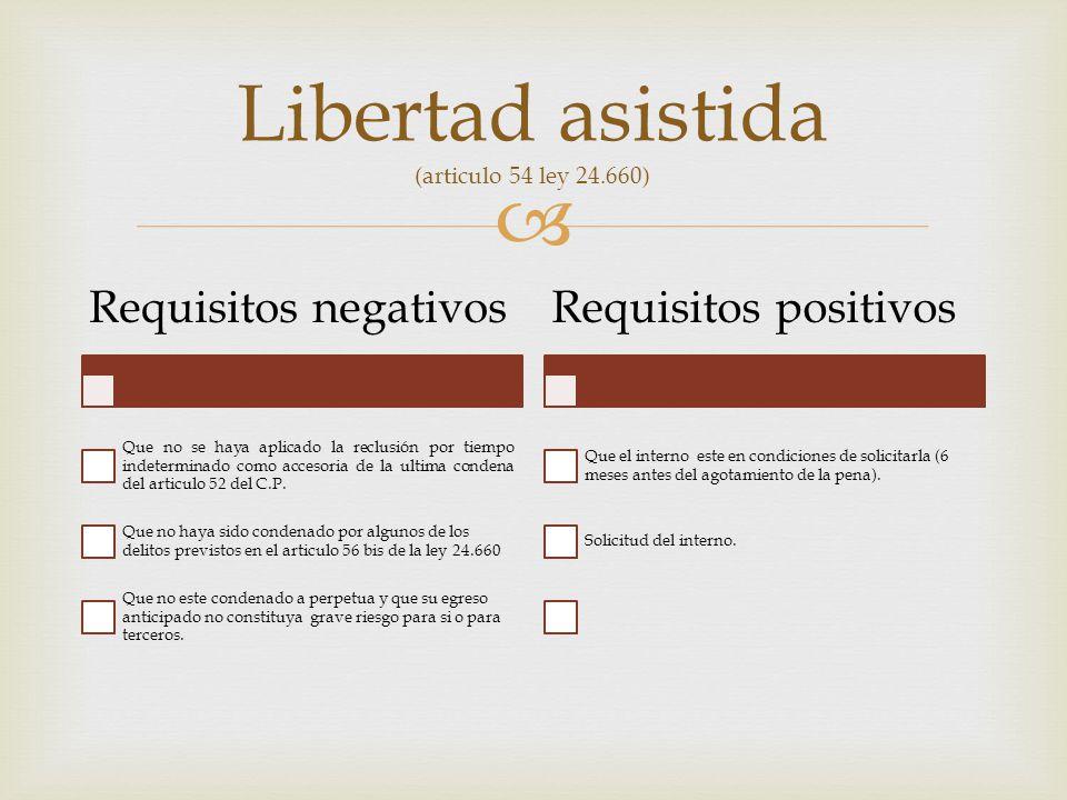 Libertad asistida (articulo 54 ley 24.660)