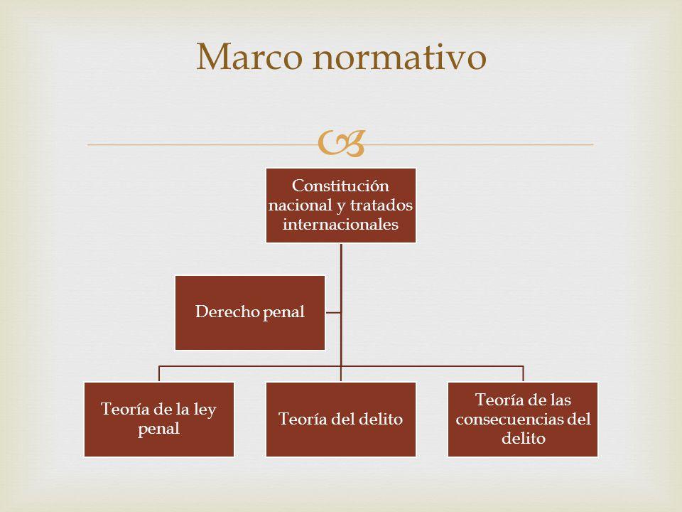 Marco normativo Constitución nacional y tratados internacionales