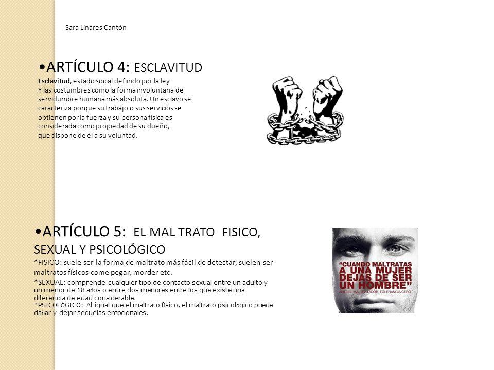 ARTÍCULO 5: EL MAL TRATO FISICO, SEXUAL Y PSICOLÓGICO