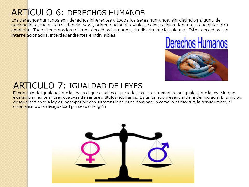 ARTÍCULO 6: DERECHOS HUMANOS