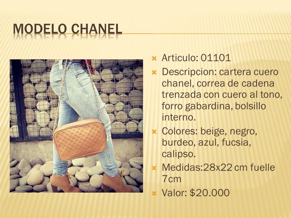 Modelo chanel Articulo: 01101