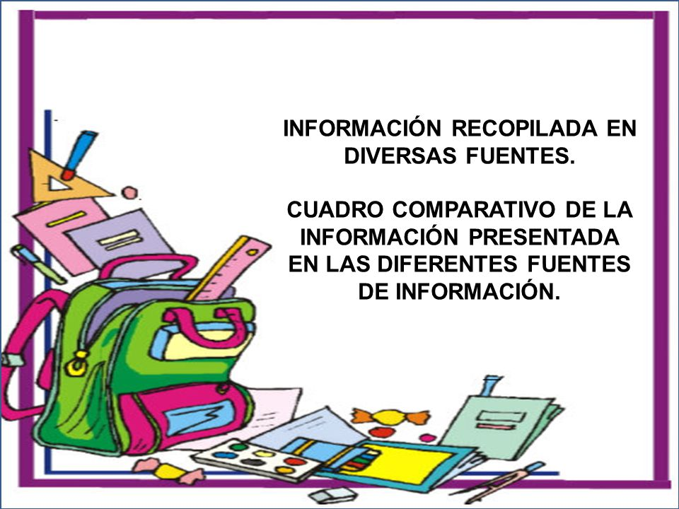 INFORMACIÓN RECOPILADA EN DIVERSAS FUENTES.
