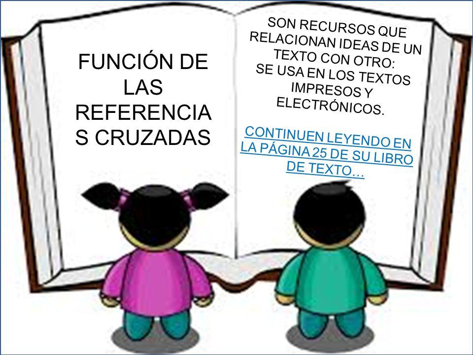 FUNCIÓN DE LAS REFERENCIAS CRUZADAS