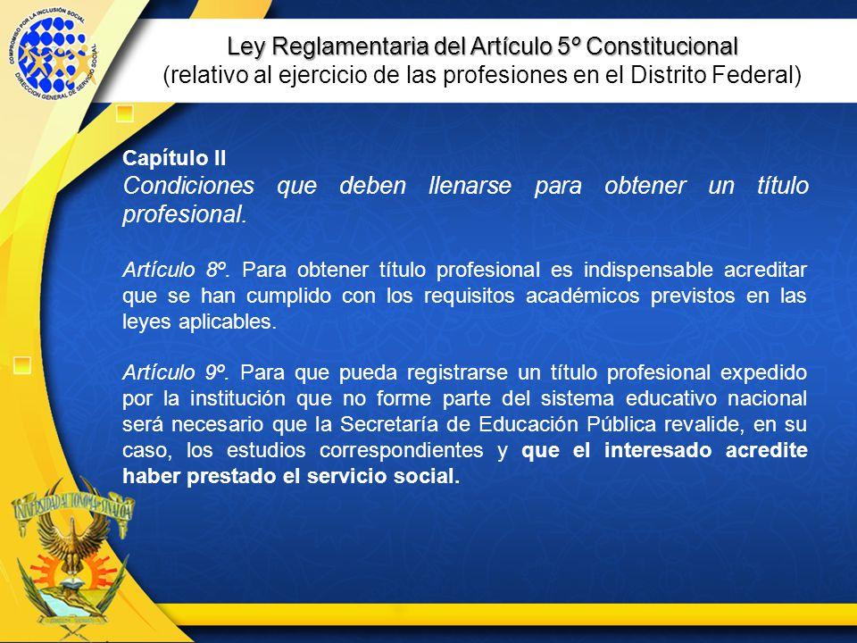 Ley Reglamentaria del Artículo 5º Constitucional