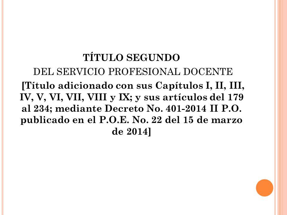 DEL SERVICIO PROFESIONAL DOCENTE