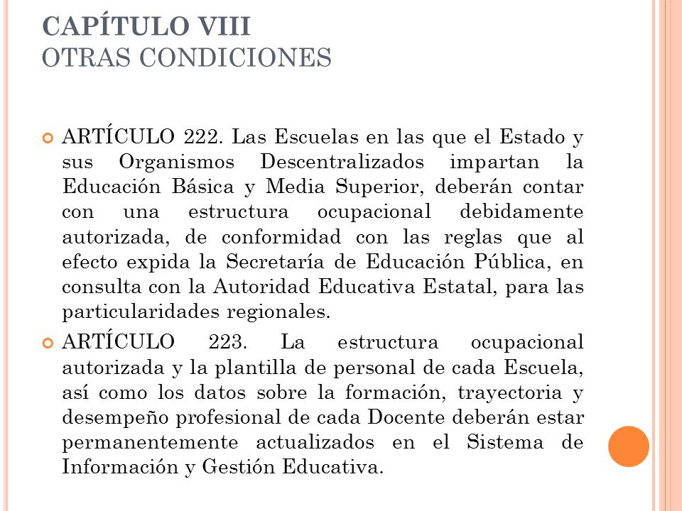 CAPÍTULO VIII OTRAS CONDICIONES