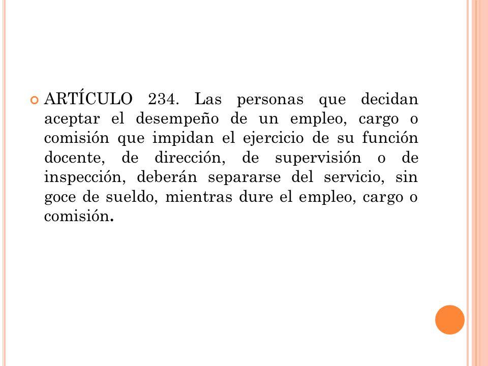 ARTÍCULO 234.