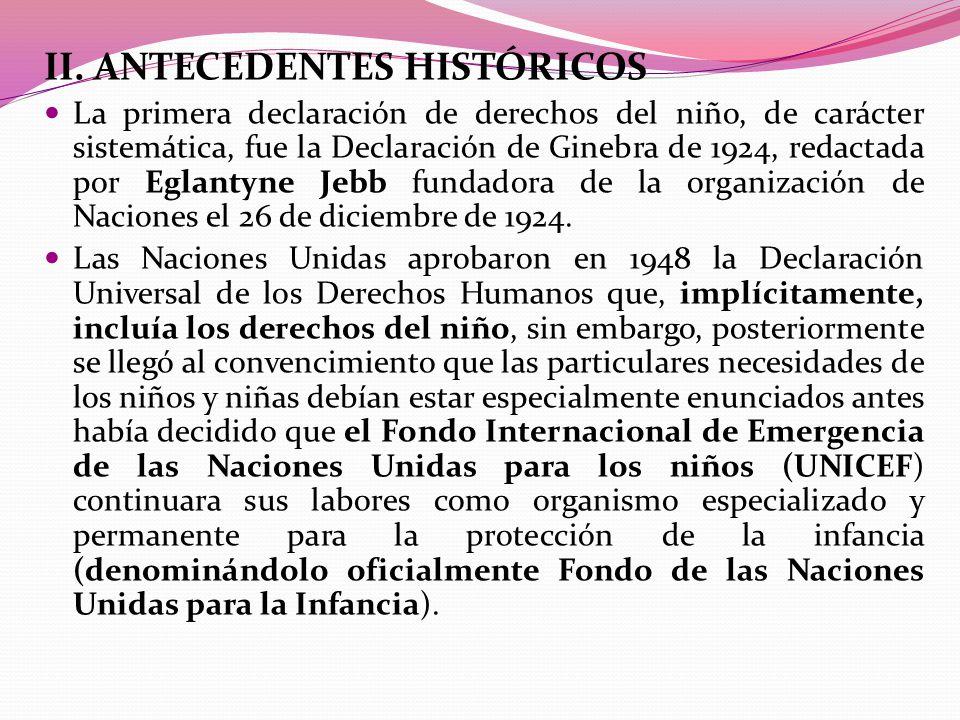 II. ANTECEDENTES HISTÓRICOS