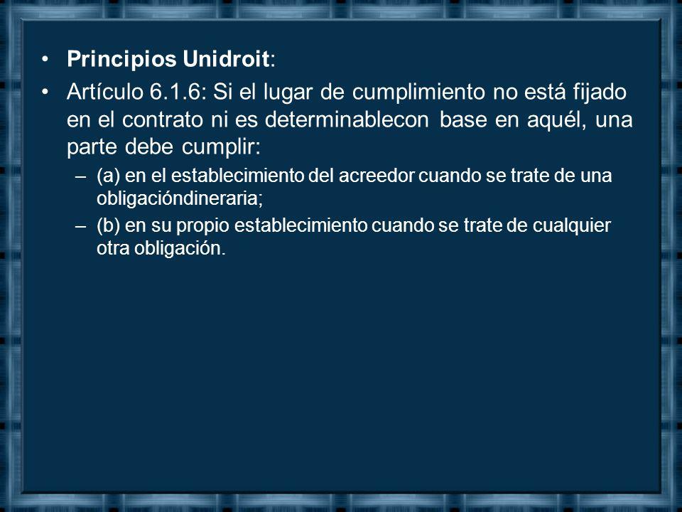 Principios Unidroit: